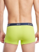 2(X)ist Essential Cotton: No-Show Trunk 3er Pack, blau/lime/rot