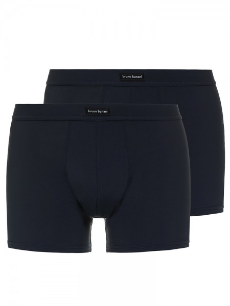 Bruno Banani Coloured Micro: Short 2er Pack, blaugrau