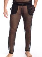 L'Homme Voile Envoutant: Loungehose, schwarz