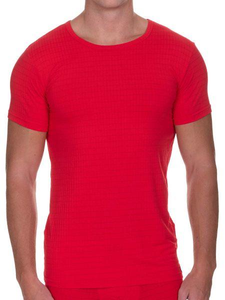 Bruno Banani Check Line 2.0: T-Shirt, rot