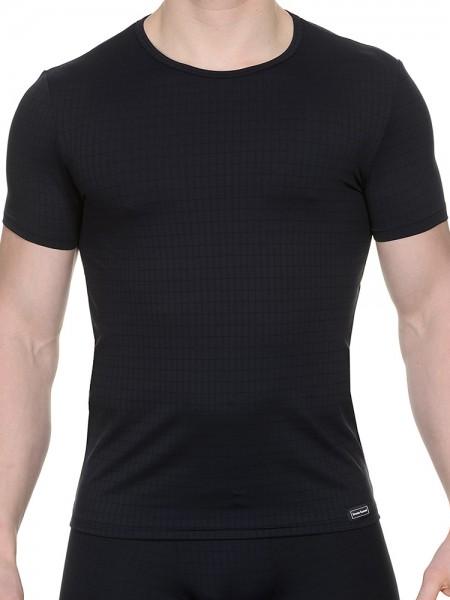 Bruno Banani Check Line: T-Shirt, schwarz