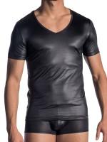 Olaf Benz RED1804: V-Neck-Shirt, schwarz