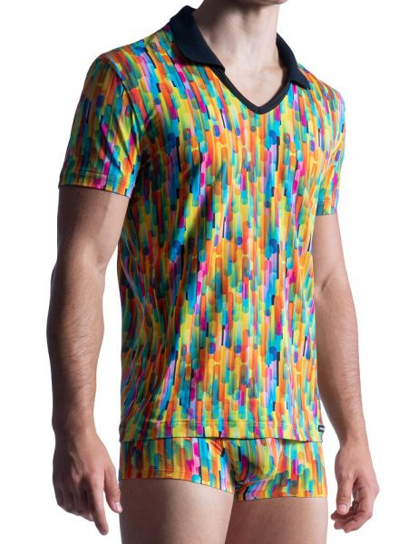 MANSTORE M851: Polo Shirt, rainbow
