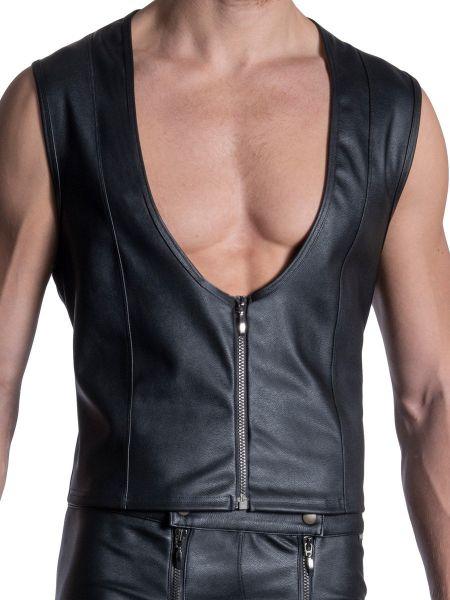 MANSTORE M2113: Zipped Vest, schwarz