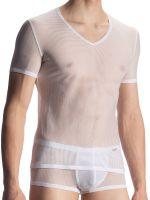 Olaf Benz RED1906: V-Neck-Shirt, weiß