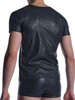 MANSTORE M2002: V-Neck-Shirt, schwarz