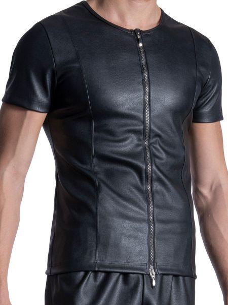 MANSTORE M2113: Zipped Shirt, schwarz