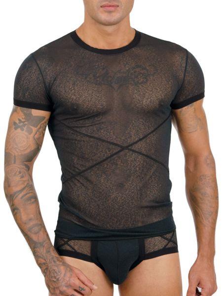 Eros Veneziani Natale: T-Shirt, schwarz