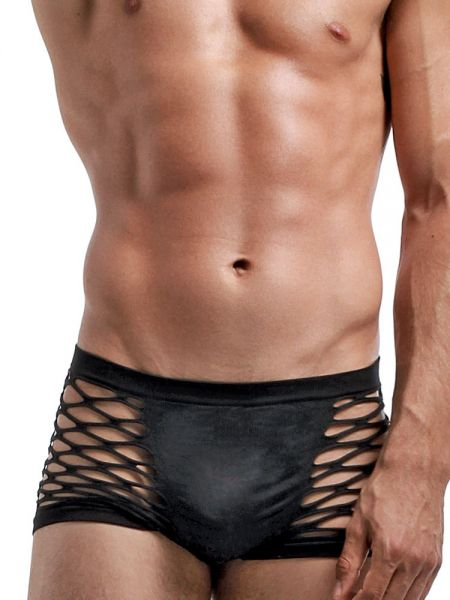 Male Power Seamless: Gone Fishin' Short, schwarz