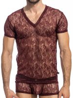 L'Homme Enzo: T-Shirt, cherry/choco