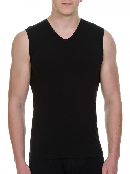 Bruno Banani Cotton Simply: Tanktop 2er Pack, schwarz