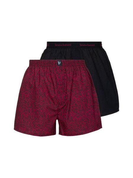 Bruno Banani Reveller: Boxershort 2er Pack, rubin oriental print/schwarz