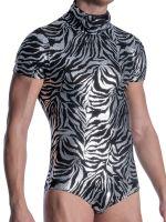 MANSTORE M2105: Pullover Body, silber/schwarz