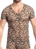 L'Homme Vespertin: V-Neck-Shirt, nude