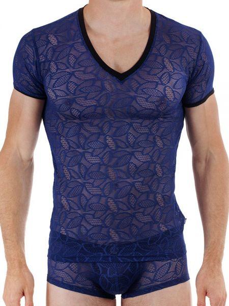 L'Homme Feuiles d'Amour: T-Shirt, marine/schwarz