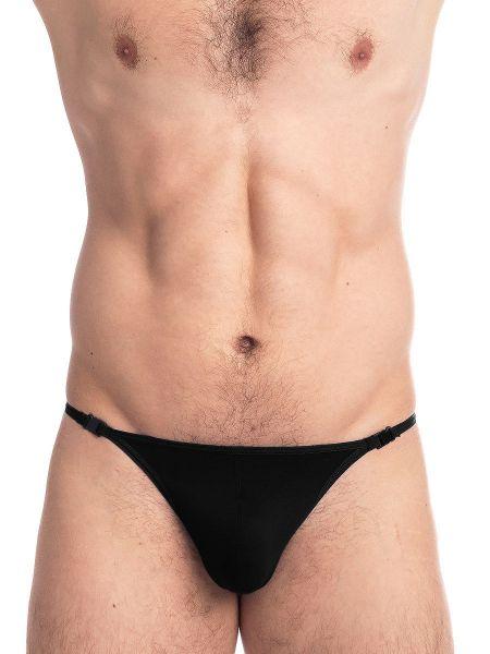L'Homme Sensitive: Bade-Stripstring, schwarz