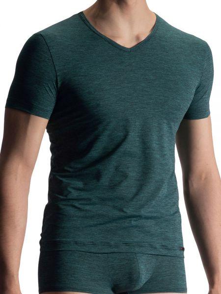 Olaf Benz RED1919: V-Neck-Shirt, grün