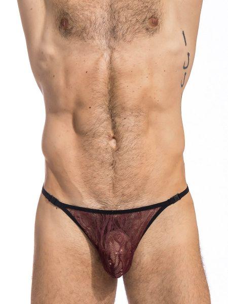 L'Homme Enzo: Stripstring, cherry/choco