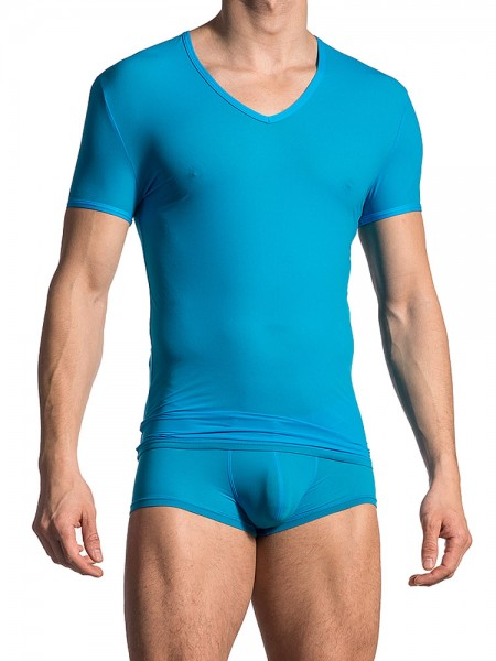 Olaf Benz RED0965: Phantom V-Neck-Shirt, surf