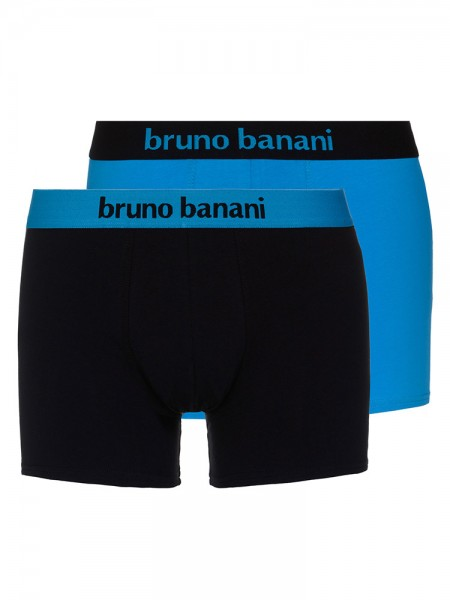 Bruno Banani Flowing: Short 2er Pack, aqua/schwarz