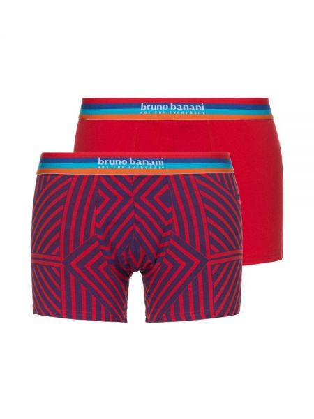 Bruno Banani Open Mind: Short 2er Pack, rot/blau