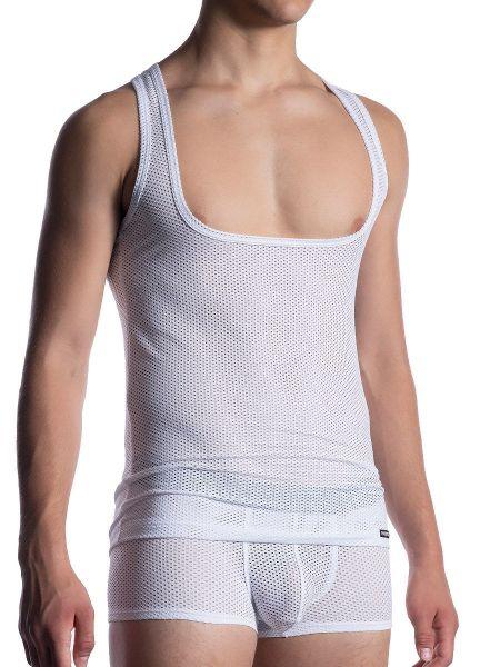 MANSTORE M2051: Workout Shirt, weiß