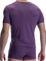 Olaf Benz RED2002: V-Neck-Shirt, aubergine
