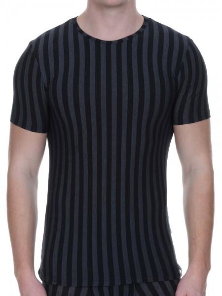 Bruno Banani Cross Walk: Shirt, schwarz/grau