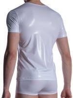 MANSTORE M2004: V-Neck-Shirt, weiß