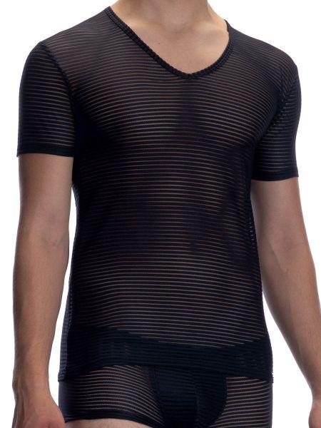 Olaf Benz RED2066: V-Neck-Shirt, schwarz