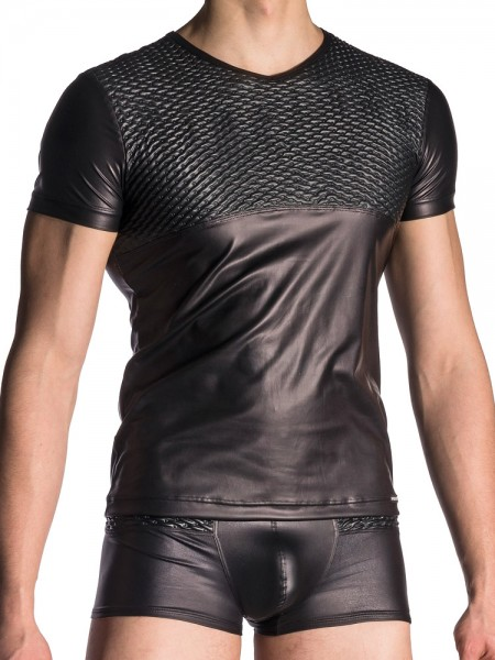 MANSTORE M701: V-Neck-Shirt, schwarz