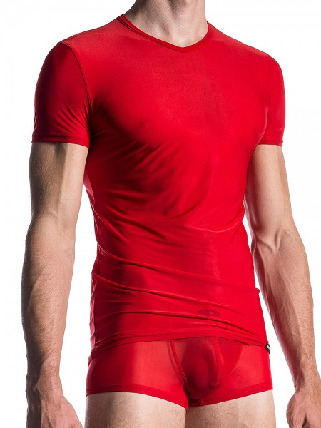 MANSTORE M101: V-Neck-Shirt, chili