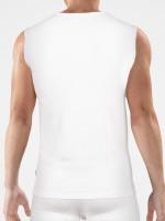 Bangert: V-Neck-Muscleshirt, weiß