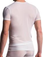 MANSTORE M101: V-Neck-Shirt, weiß