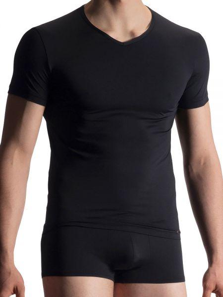 Olaf Benz RED1916: V-Neck-Shirt, schwarz