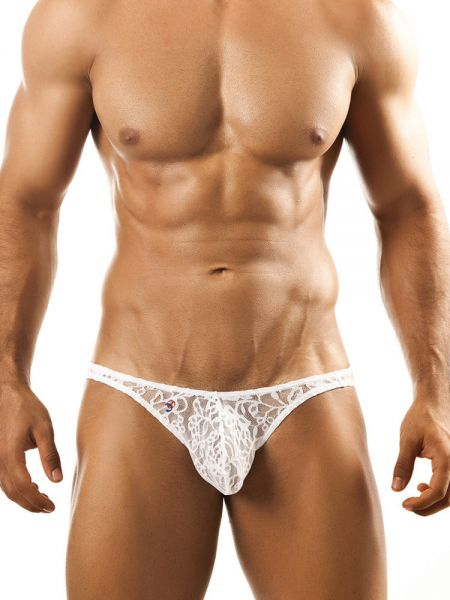 Joe Snyder Bulge04: Bikini Spitzen-Brief, weiß