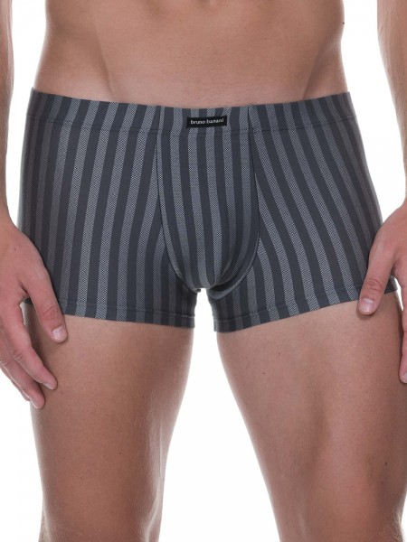 Bruno Banani X-Mas Party: Hipshort, anthrazit stripes