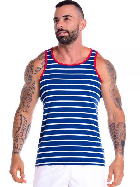 JOR Atlantic: Tanktop, blau/weiß