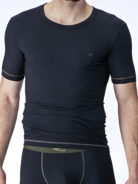 camel active Underwear 21: T-Shirt, schwarz/olive
