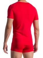 Olaf Benz RED1758: V-Neck-Shirt, rot
