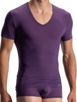 Olaf Benz RED0965: Phantom V-Neck-Shirt, aubergine