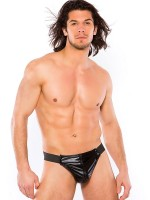 Zeus: Wetlook-String, schwarz