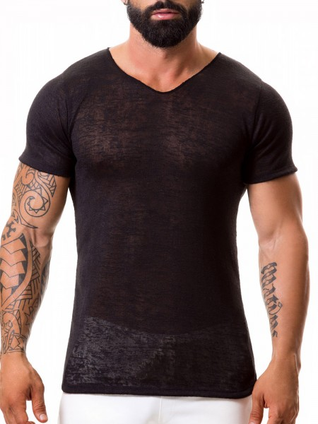JOR Maui: V-Neck-Shirt, schwarz
