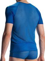 Olaf Benz RED1913: V-Neck-Shirt, blau