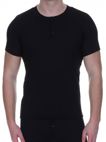 Bruno Banani Retro Perfect: Button Shirt, schwarz