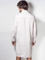 L'Homme Taj: Loungeshirt, weiß