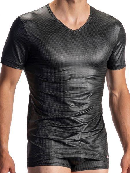 Olaf Benz RED1968: V-Neck-Shirt, schwarz
