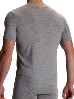 Olaf Benz RED2106: V-Neck-Shirt, grau