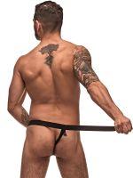 Male Power Grip & Rip: Rip-Off Thong, schwarz