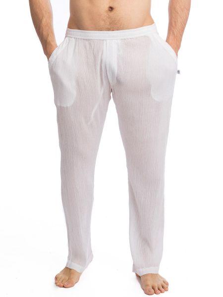 L'Homme Byaar: Loungehose, weiß